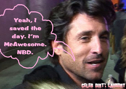 Patrick Dempsey Is A Superhero, Pulls Teen From Wrecked Car