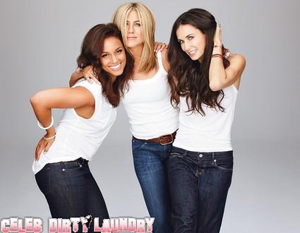 Holy Photoshop Batman: Jennifer Aniston, Demi Moore & Alicia Keys Cover Glamour