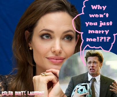 Angelina Jolie Puts A Stopper On Her Wedding To Brad Pitt -- He's Fed Up