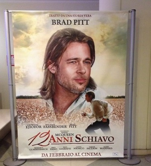 Italian Posters For 12 Years A Slave Feature Brad Pitt, Racist? (PHOTO)