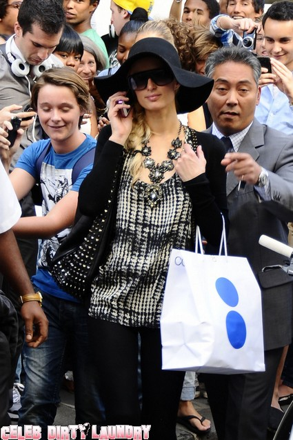 Paris Hilton WOWS Paris, Greets Fans While Shopping In Paris