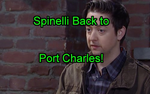 'General Hospital' Spoilers: Spinelli Back to Port Charles September 2 – Jackal Mixed Up In Maxie Split and JaSam Wedding