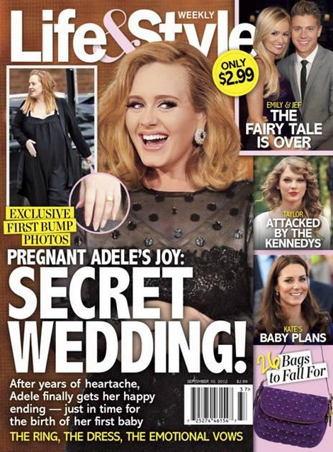 Pregnant Adele's Secret Wedding Revealed - The Ring, The Dress, The Vows