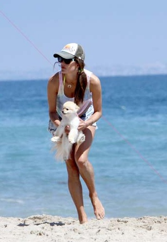 Pics! Alessandra Ambrosia Plays Beach Volleyball In Her String Bikini!