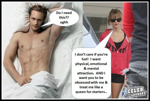 Taylor Swift And Katie Holmes Fighting Over Alexander Skarsgard - Love Triangle?