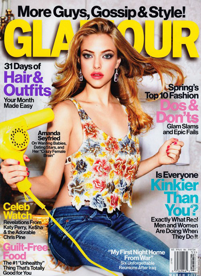 Amanda Seyfried Contemplates Full-Frontal Nudity In The March Issue Of Glamour