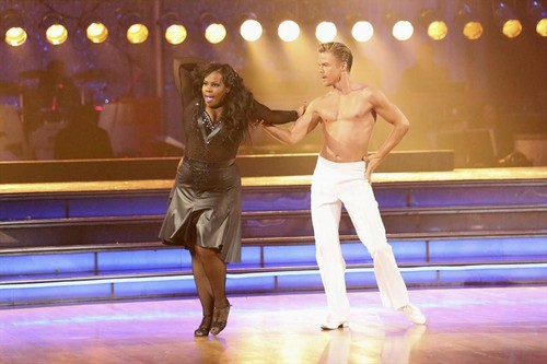 Amber Riley Dancing With the Stars Salsa Trio with Mark Ballas Video #DWTS