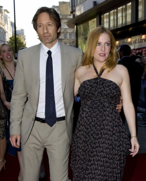New Couple Gillian Anderson and David Duchovny Spotted Frolicking In Pool At LA Home 0823
