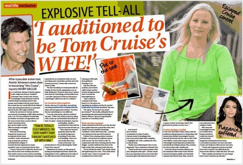 Tom Cruise's Scientology Wife Audition: Norwegian Woman Anette Johansen Reveals Secret Interview