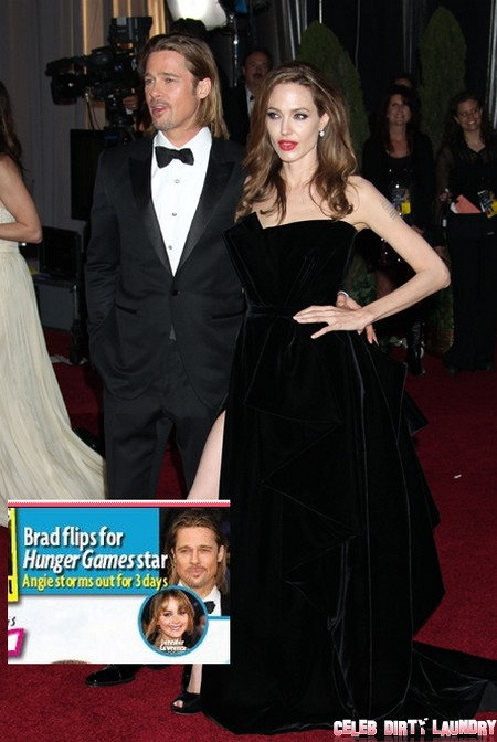 Angelina Jolie's Jealous Rage As Brad Pitt Falls For Jennifer Lawrence