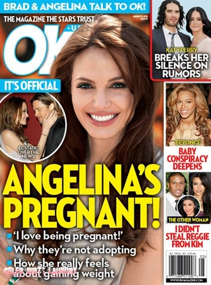 It's Official, Angelina Jolie's Pregnant! (Photo)