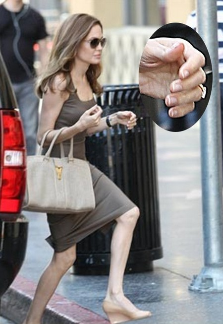 Angelina Jolie Shows Off Her Hot Engagement Ring And Hotter Legs In Hollywood (Photo)