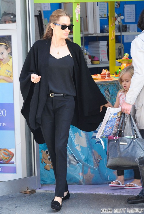 Angelina Jolie Skin Cancer Fears - Addicted To Tanning (Photos)