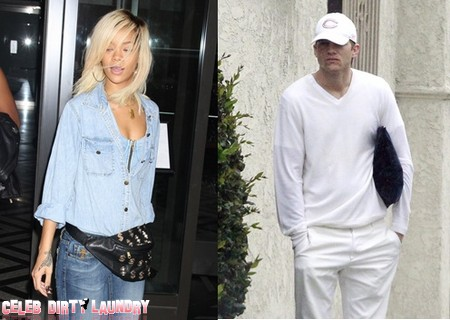 Racist Rihanna And Douchebag Ashton Kutcher Vie For Biggest Pig