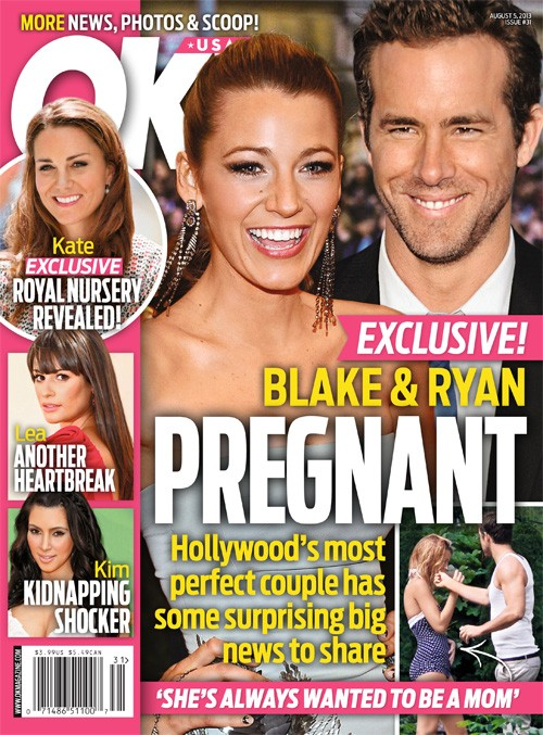 Blake Lively Pregnant With Ryan Reynolds' Baby - OK!