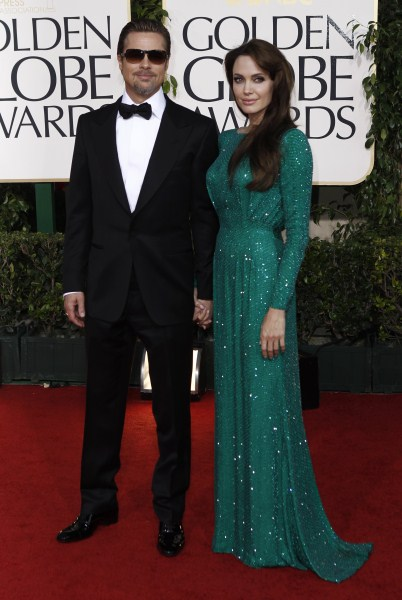 Angelina Jolie and Brad Pitt At The 68th Annual Golden Globe Awards