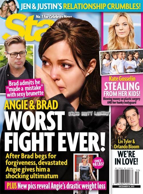 Angelina Jolie Catches Brad Pitt Cheating With Hot Brunette! (PHOTO)