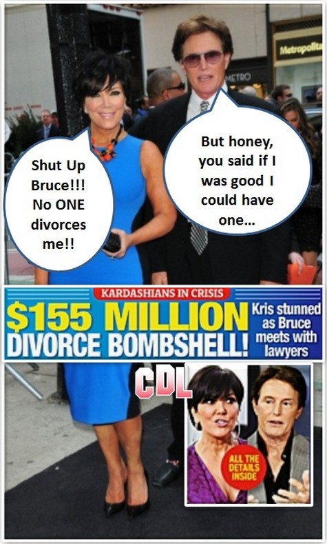 Report: Bruce Jenner Seeks Divorce From Kris Jenner - $155 Million At Stake