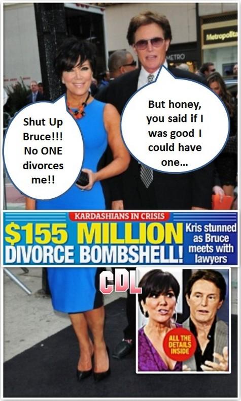 Report: Bruce Jenner Seeks Divorce From Kris Jenner - $155 Million At Stake