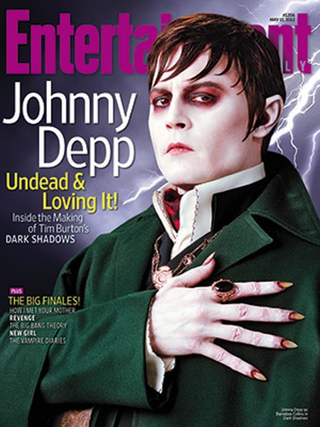 Johnny Depp As 'Dark Shadow's' Barnabus Collins Covers 'Entertainment Weekly' (Photo)