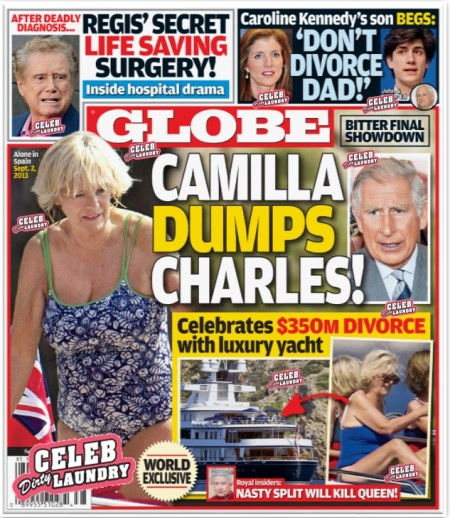 GLOBE: Camilla Parker-Bowles Dumps Prince Charles - Celebrates $350 Million Divorce (PHOTO)