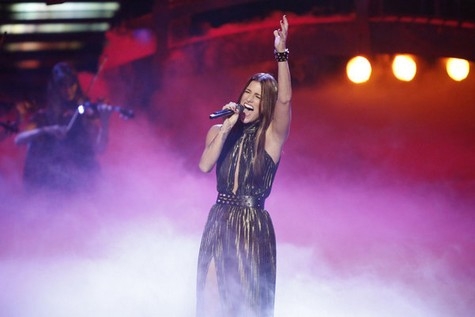 "Cassadee Pope The Voice Semifinals ""Stupid Boy"" Video 12/10/12"