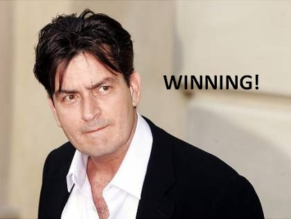 charlie sheen winning t shirt. Charlie Sheen is cashing in on