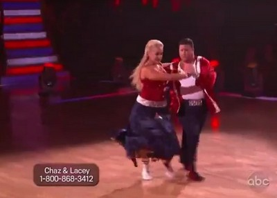 Chaz Bono and Professional Dancer Lacey Schwimmer Dancing With The Stars Paso Doble (Video)