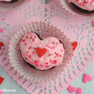 CHOCOLATE VALENTINE HEART CUPCAKE RECIPE
