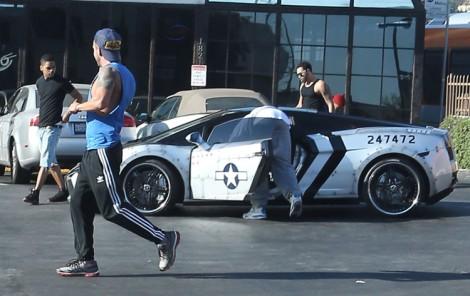 Chris Brown's Friends Harass Old Man, Chase With Stun Gun (Photos) 0921
