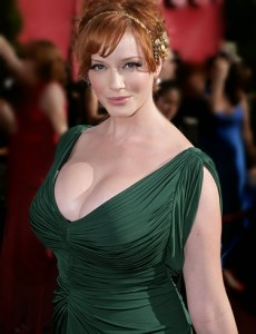 Christina Hendricks Given Bananas at Christmas