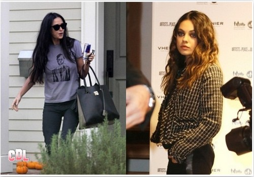 Demi Moore and Mila Kunis Hate Each Other: Reschedule Manicures To Avoid Cat Fight