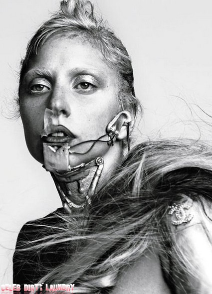 Lady Gaga As Nude Paranoid Android (Photos)