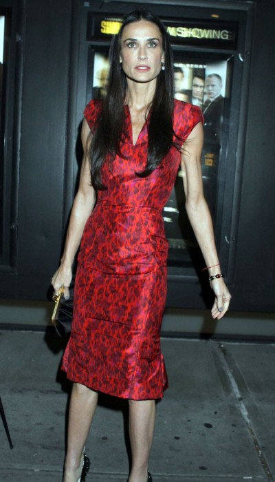 Demi Moore's A Drunken Mess At Lenny Kravitz Party, Happy Or Desperate? 1206