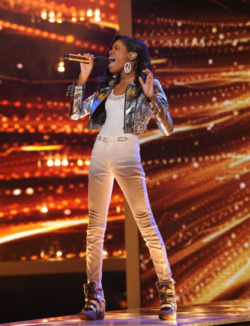 """Diamond White The X Factor Top 10 """"Because You Loved Me"""" Video 11/21/12"""