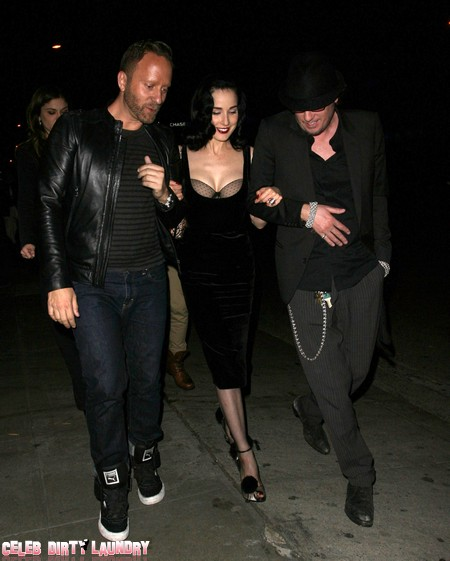 Dita Von Teese Does Her Boobilicious Breast Strut (Photos)