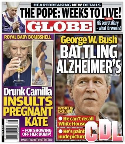 GLOBE: Drunk Camilla Parker-Bowles Insults Kate Middleton's Bikini Baby Bump Photos!