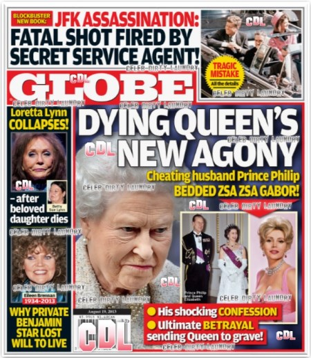 GLOBE: Queen Elizabeth's Dying Agony Revealed: Prince Philip's Awful Cheating Scandal With Zsa Zsa Gabor (PHOTO)