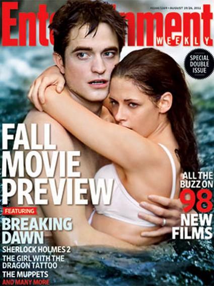 Robert Pattinson & Kristen Stewart Get Wet and Steamy For EW Cover