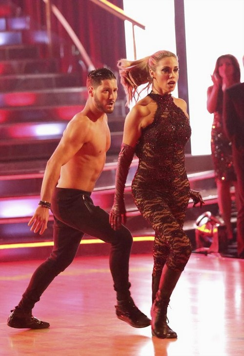 Elizabeth Berkley Dancing With the Stars Salsa Trio with Gleb Savchenko Video #DWTS