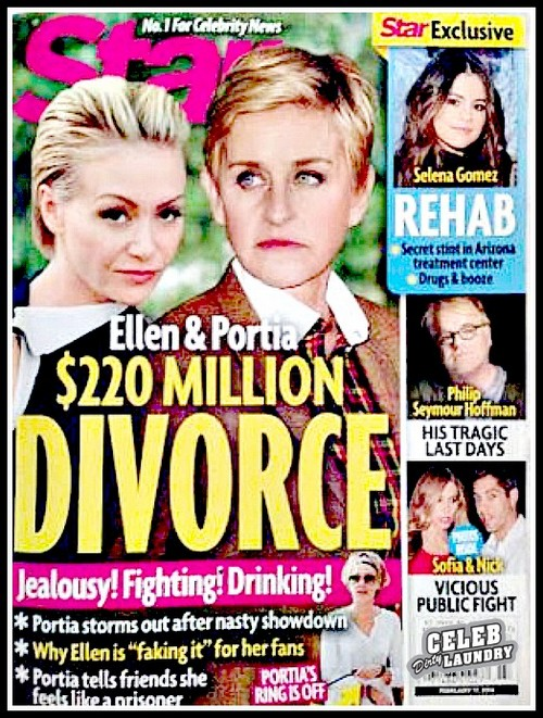 Ellen DeGeneres And Portia de Rossi Divorce: Couple Separate As Jealousy and Cheating Rip Marriage Apart - Report (PHOTO)