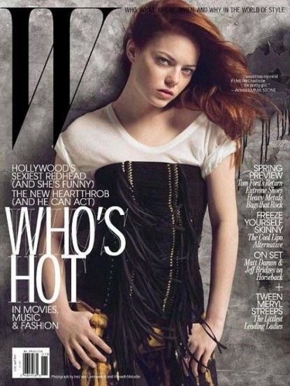 Emma Stone Covers W Magazine January 2011