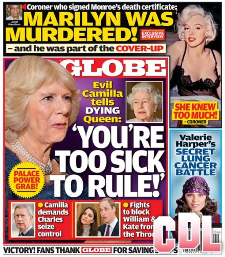 GLOBE: Kate Middleton and Prince William Defend Queen Elizabeth From Camilla Parker-Bowles and Prince Charles Power Grab