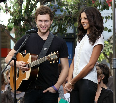 Phillip Phillips Doing An Interview For EXTRA