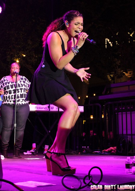 Jordin Sparks Performing Live At The Grove