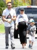 Exclusive... Pregnant Christina Aguilera & Family Go Mini Golfing