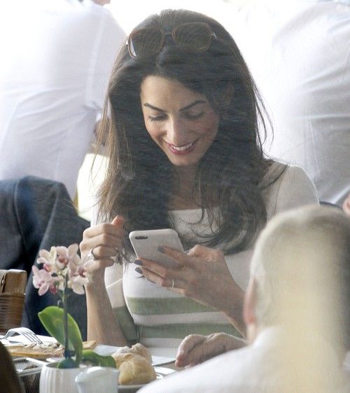 Amal Clooney Lunches At Varoulko Restaurant Celeb Dirty