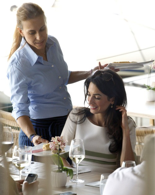 Amal Clooney Lunches At Varoulko Restaurant | Celeb Dirty ...