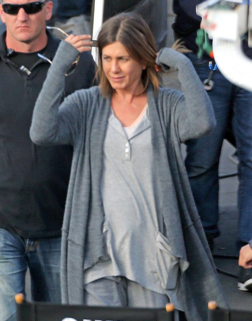 Jennifer Aniston On The Set Of 'Cake'