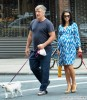Alec Baldwin & Hilaria Take Their Dogs For A Walk